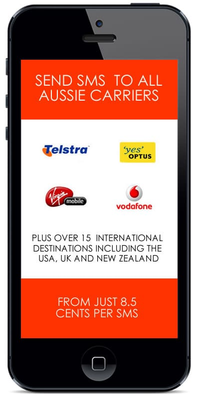Phone With Australian Carriers That Can Receive From SMSit