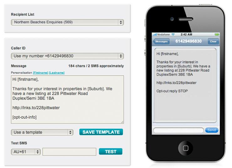 Bulk SMS Messaging For Marketing Interface