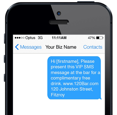 SMS Promotional Message From Nightclub