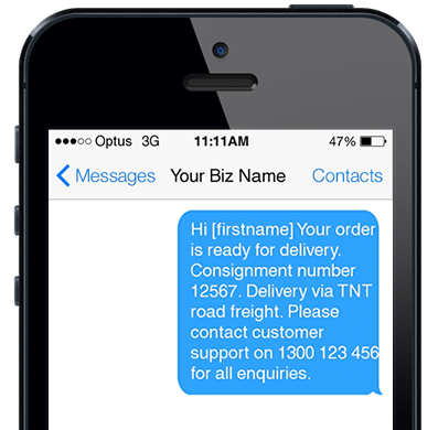 Automated SMS Message Notifications