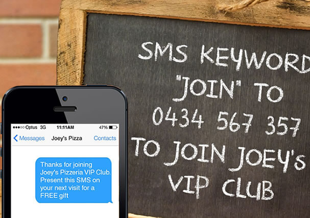 Grow your customer contact list with SMS Keywords